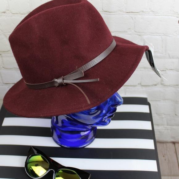 e78bb2fd4a8ef5 D&Y Accessories | Dy Wool Fedora Hat With Leather Trim Nwt | Poshmark